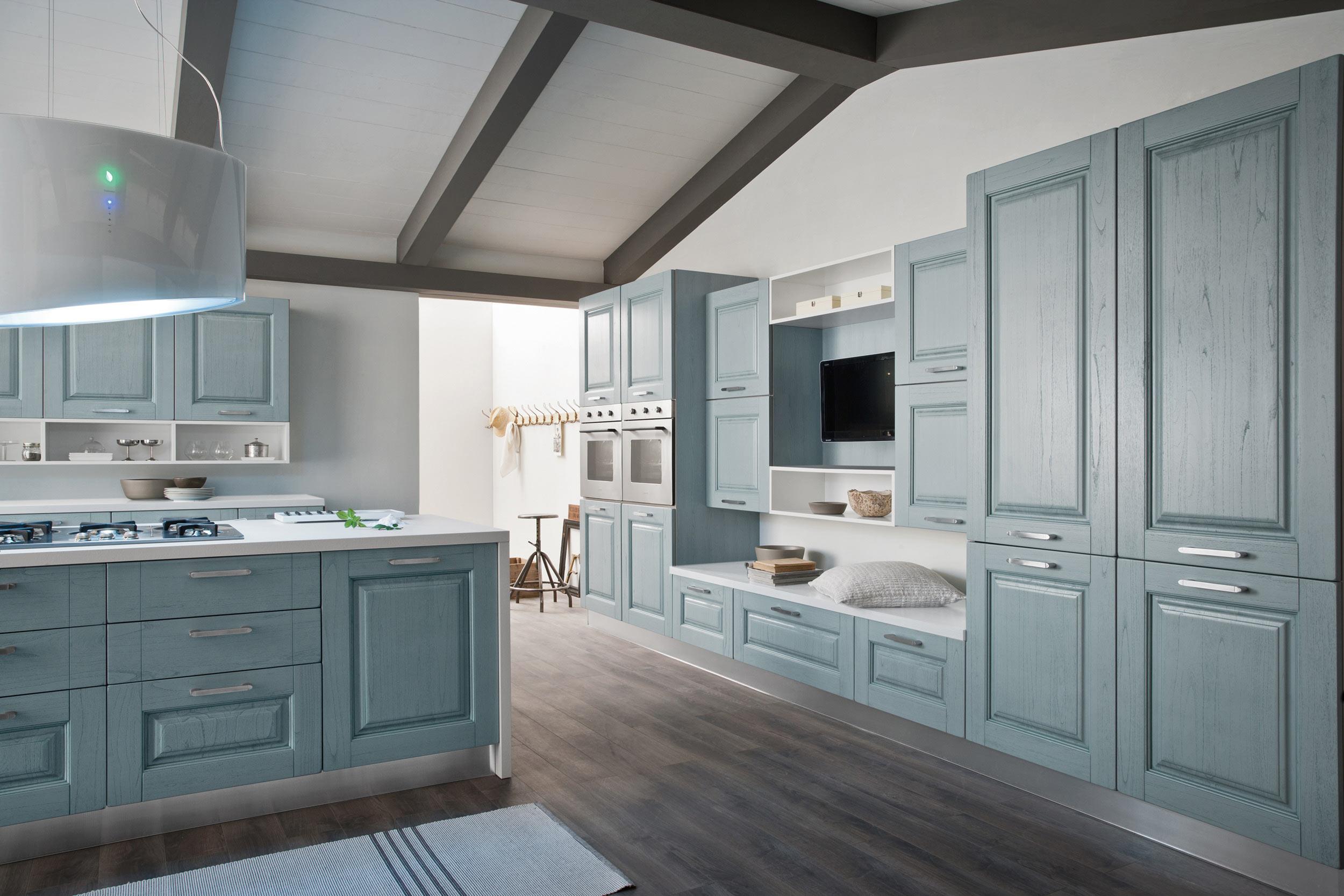 cucina classica celeste