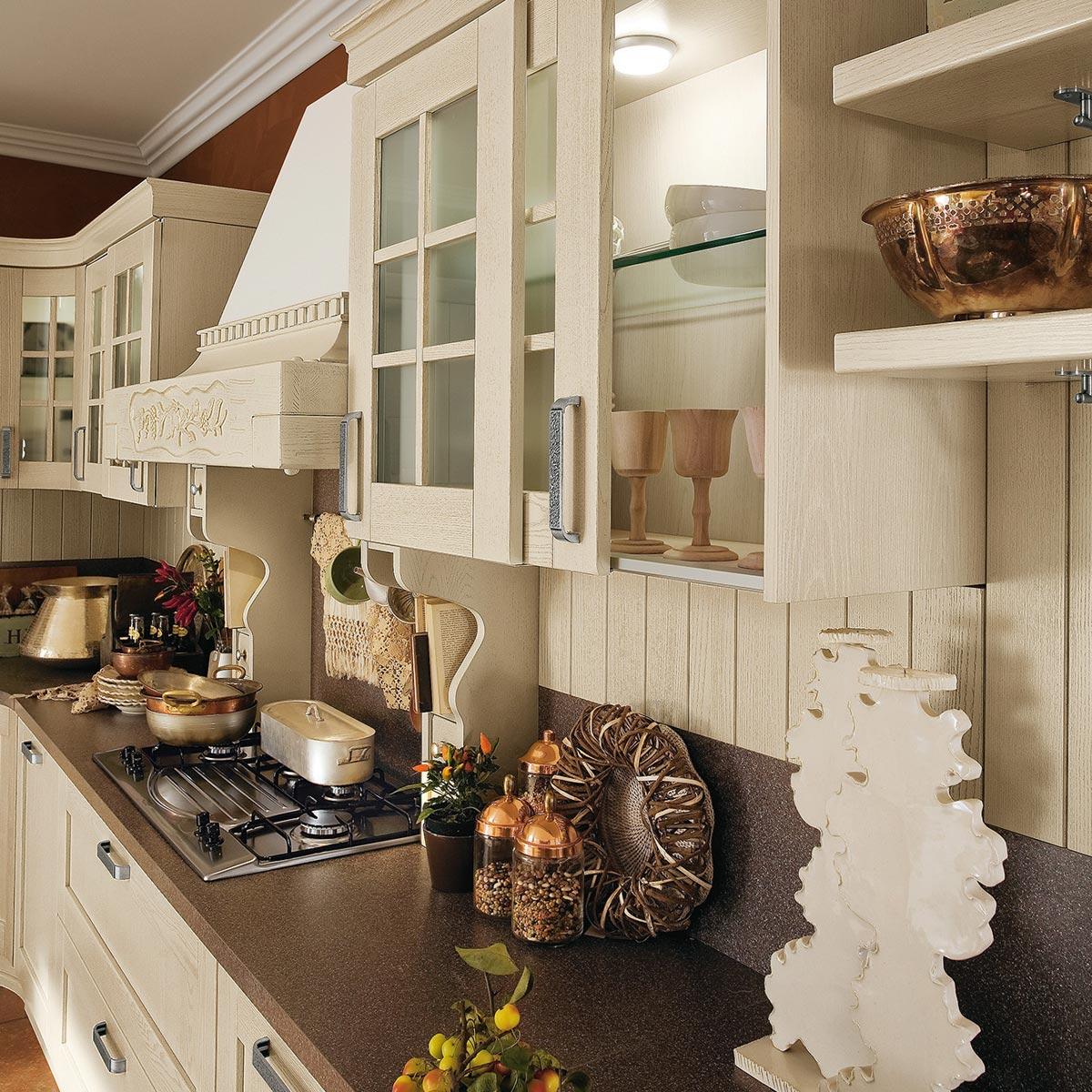 Ar tre signoressa cucine classiche in legno con for Cucine classiche